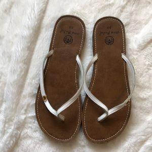 Ocean Minded White Sandal size 10